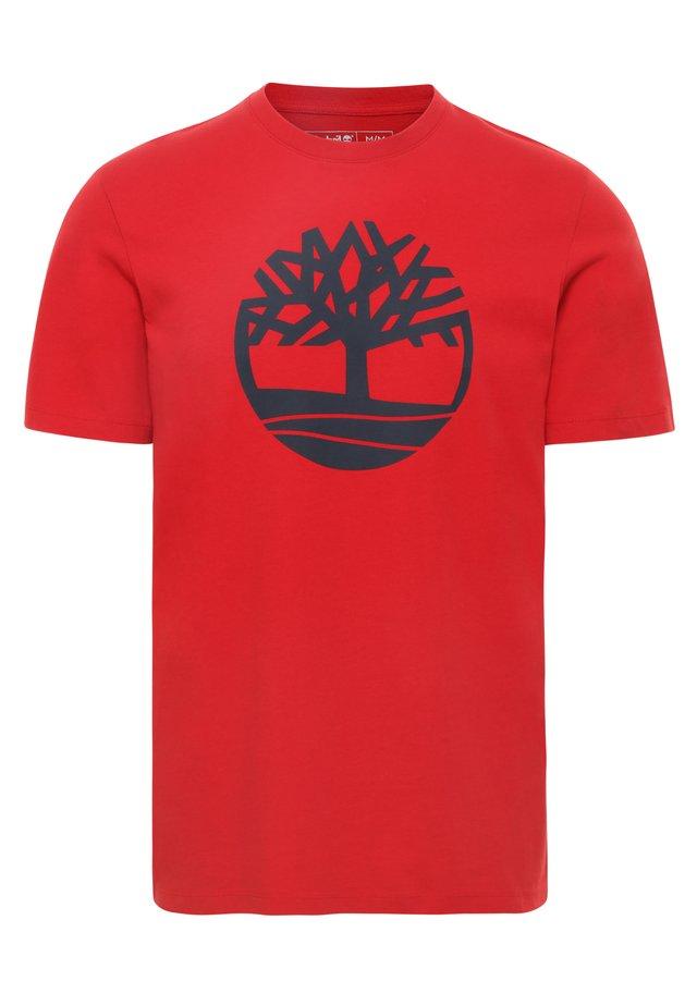 KENNEBEC - Print T-shirt - medium red