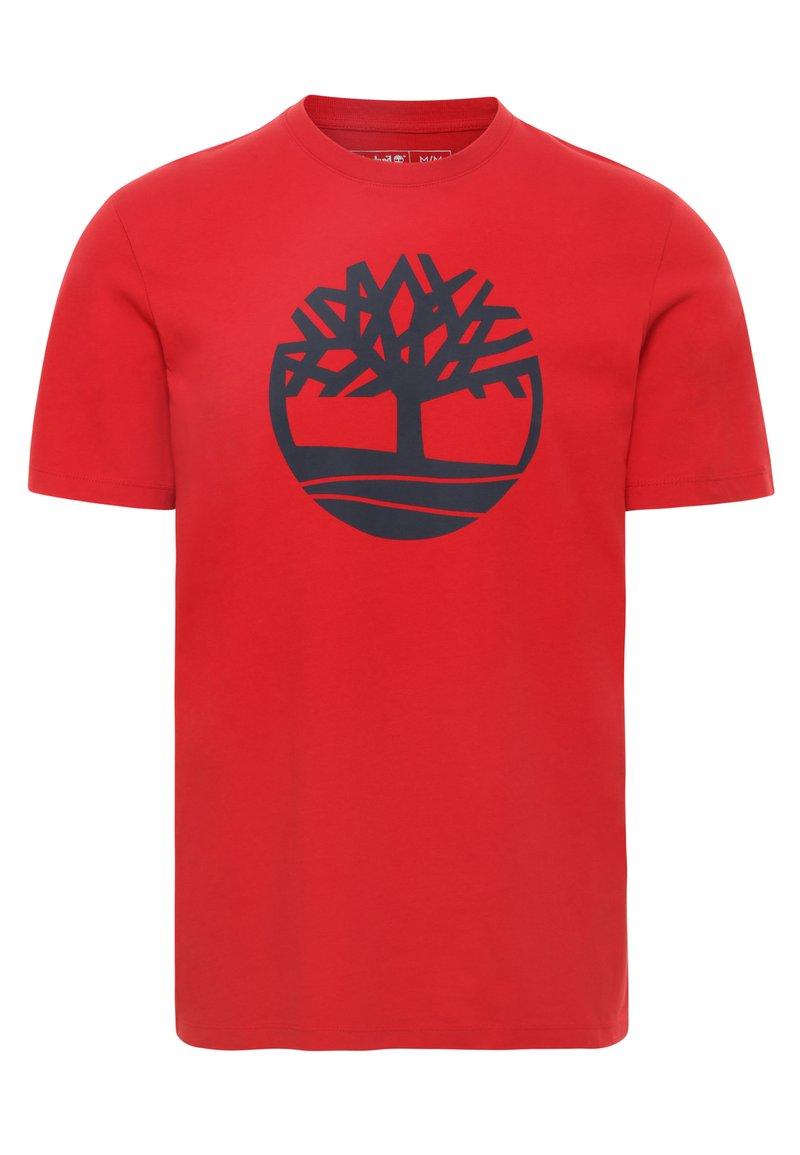 Timberland - KENNEBEC - Printtipaita - medium red