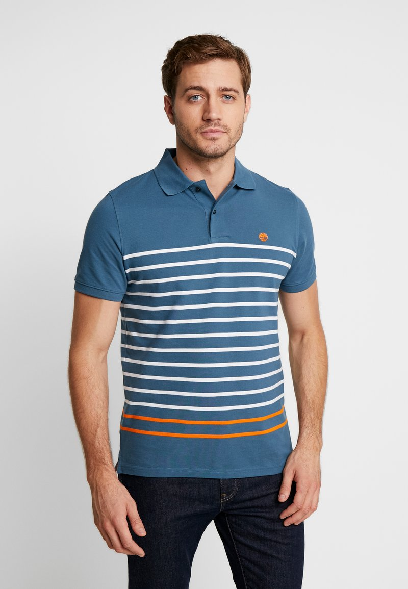 Timberland - MILLERS RIVER STRIPE  - Polo shirt - indian teal