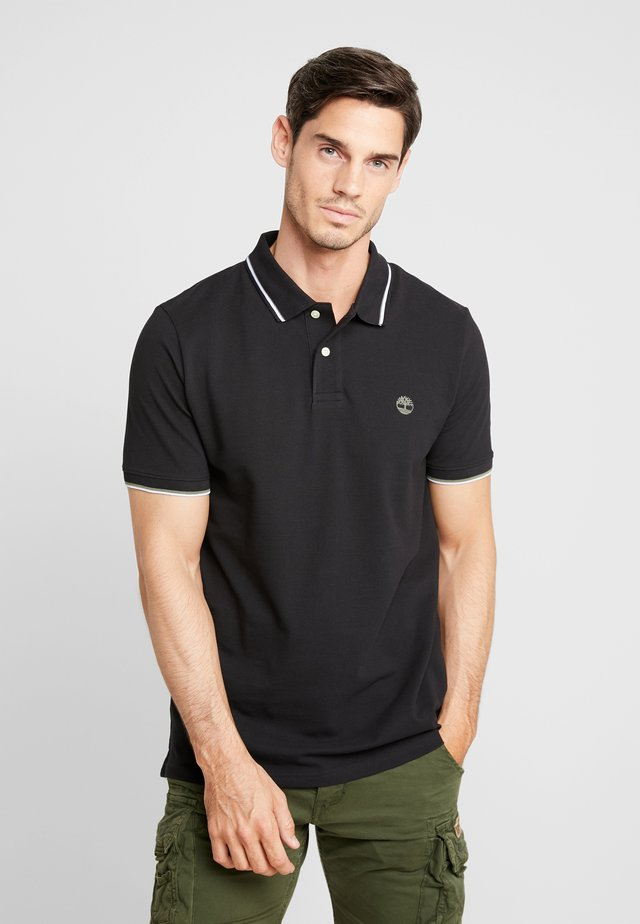 TIPPED - Polo shirt - black
