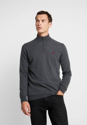 BROOK HALF ZIP - Strikkegenser - phantom heather