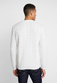 Timberland - PHILLIPS BROOK CABLE CREW - Stickad tröja - white smoke - 2