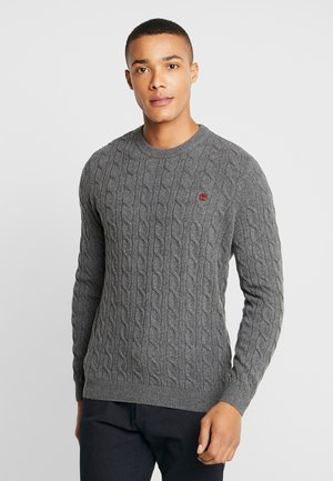 PHILLIPS BROOK CABLE CREW - Strikkegenser - dark grey heather