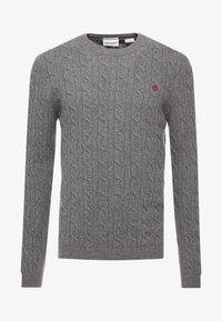 Timberland - PHILLIPS BROOK CABLE CREW - Jumper - dark grey heather - 3
