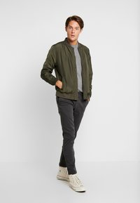 Timberland - COHAS BROOK MERINO  - Strikkegenser - medium grey heather - 1