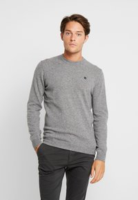 Timberland - COHAS BROOK MERINO  - Strikkegenser - medium grey heather - 0