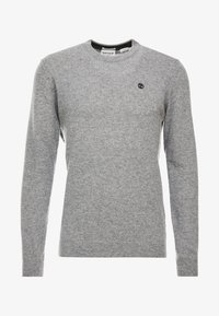 Timberland - COHAS BROOK MERINO  - Strikkegenser - medium grey heather - 4