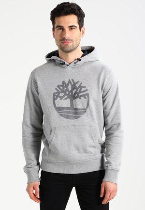 TREE LOGO - Felpa con cappuccio - medium grey heather
