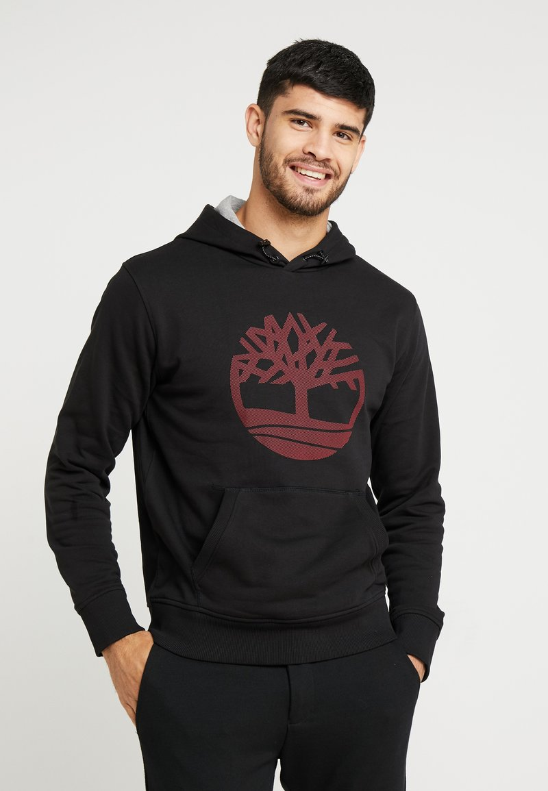 Timberland - TREE LOGO - Felpa con cappuccio - black