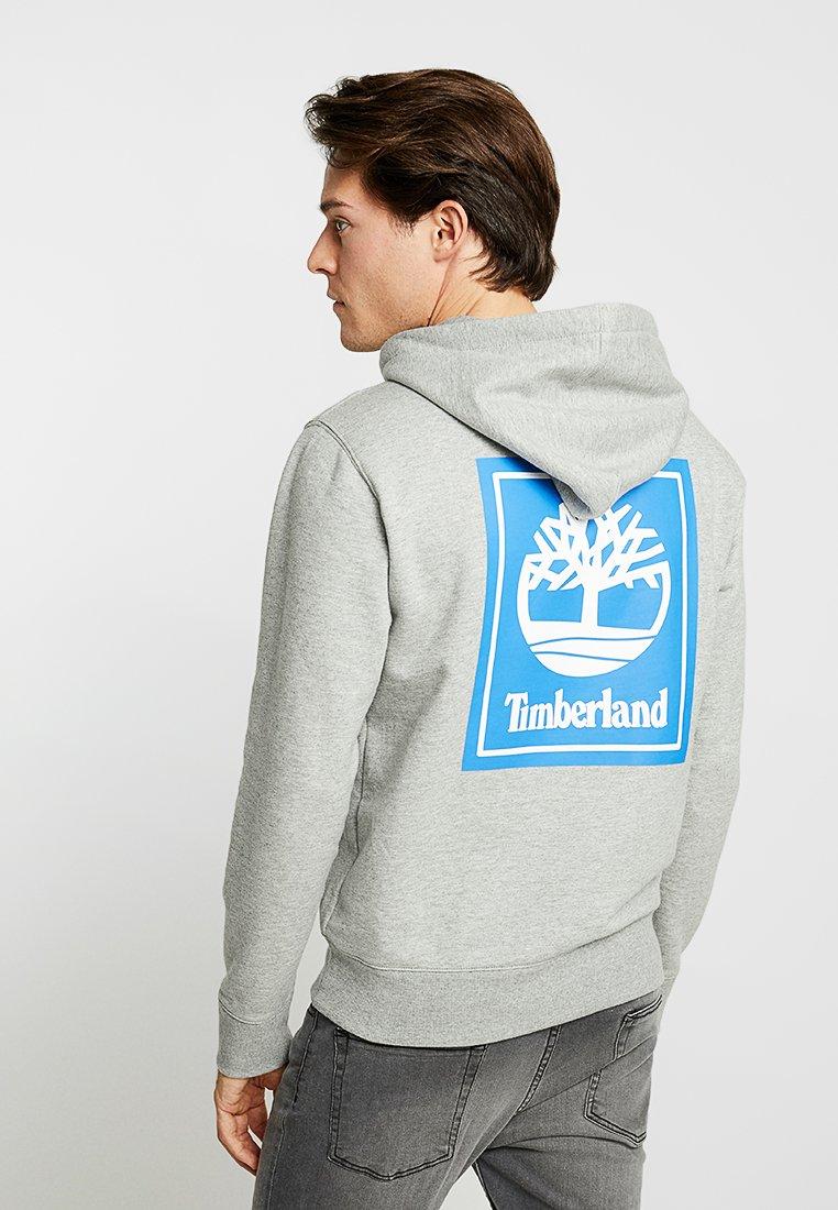 Timberland - HOODIE STACK LOGO - Kapuzenpullover - medium grey heather