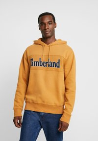 Timberland - CONNECTICUT RIVER HERITAGE CUT SEW LOGO HOODIE - Hoodie - wheat boot - 0