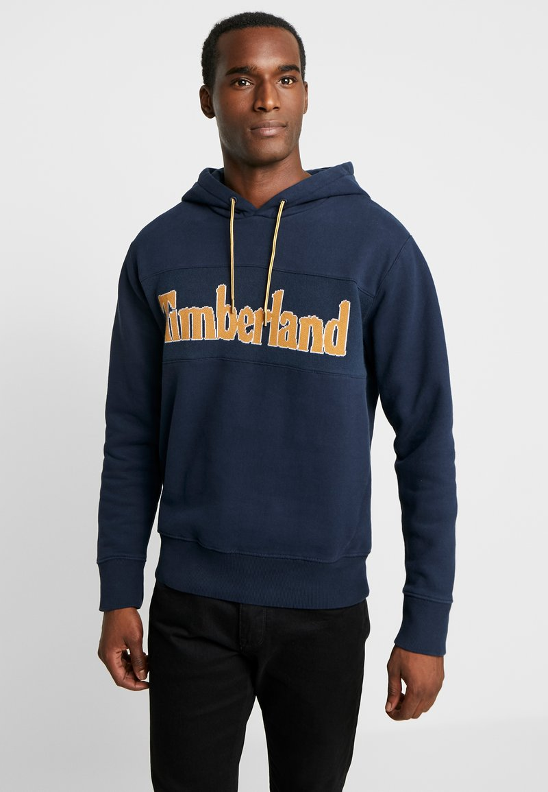 Timberland - CONNECTICUT RIVER HERITAGE CUT SEW LOGO HOODIE - Mikina s kapucí - dark sapphire