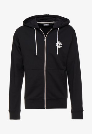 ZIP HOODIE - veste en sweat zippée - black