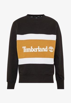 CUT & SEW COLORBLOCK CREW - Sweatshirt - black/wheat boot