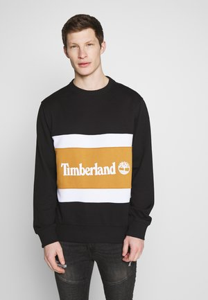 CUT & SEW COLORBLOCK CREW - Sweatshirt - black/wheat boot