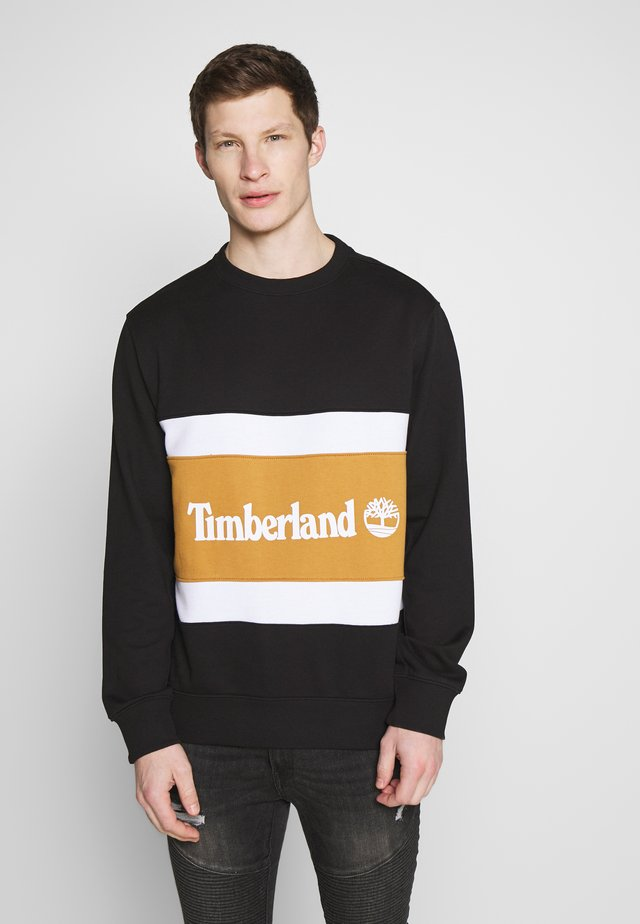 CUT & SEW COLORBLOCK - Sweatshirt - black/wheat boot