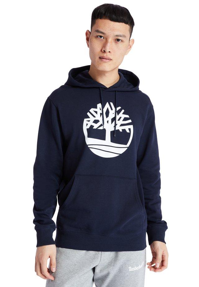 YC CORE TREE LOGO - Hoodie - dark sapphire-white