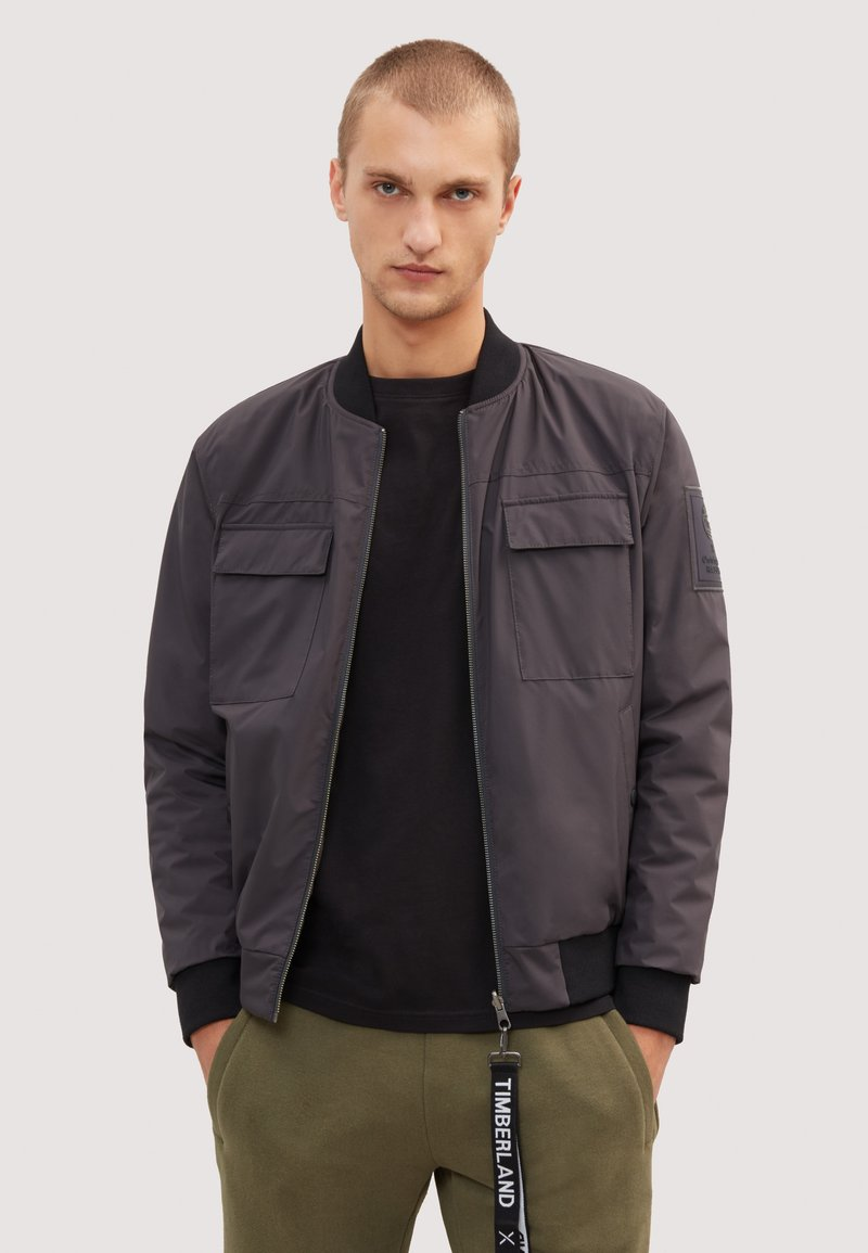 Timberland - RAEBURN REVERSIBLE - Bomber Jacket - phantom brown