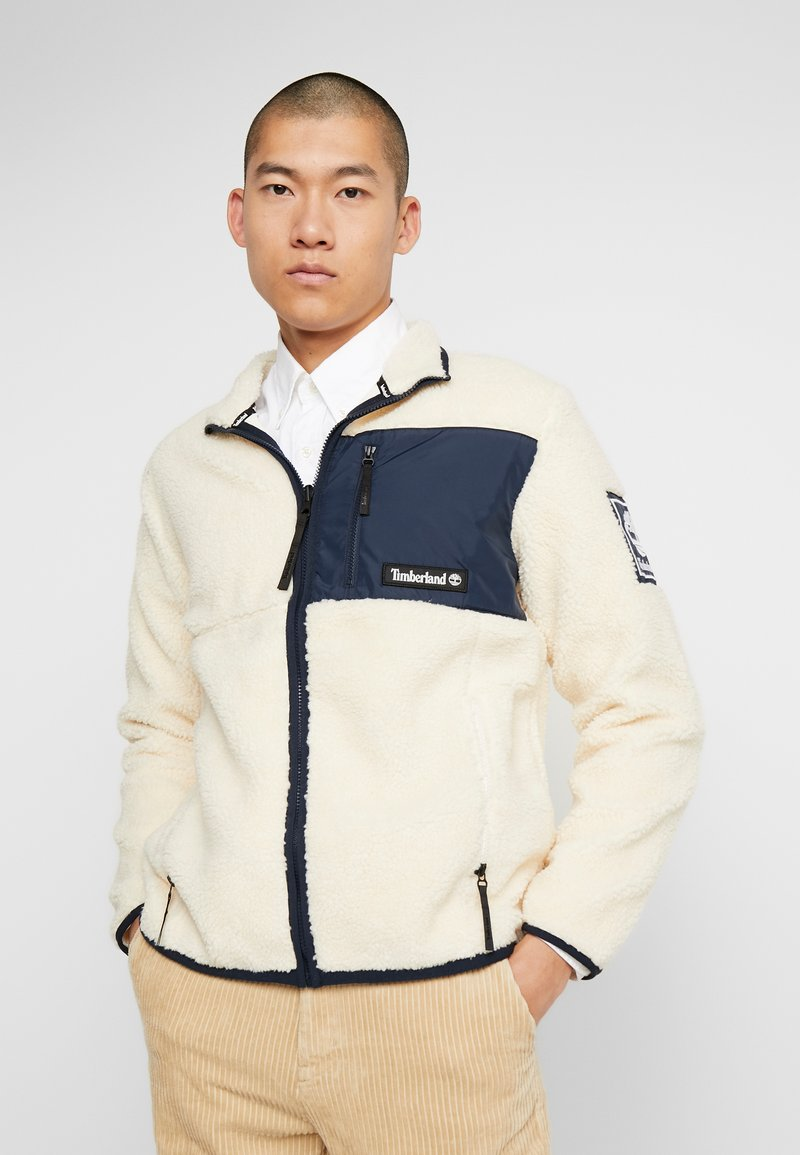 Timberland - OUTDOOR ARCHIVE SHERPA JACKET - Giacca in pile - dark sapphire/white smoke
