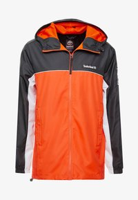 Timberland - FULL ZIP JACKET - Summer jacket - black/spicy orange - 4