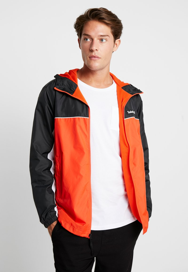 Timberland - FULL ZIP JACKET - Summer jacket - black/spicy orange