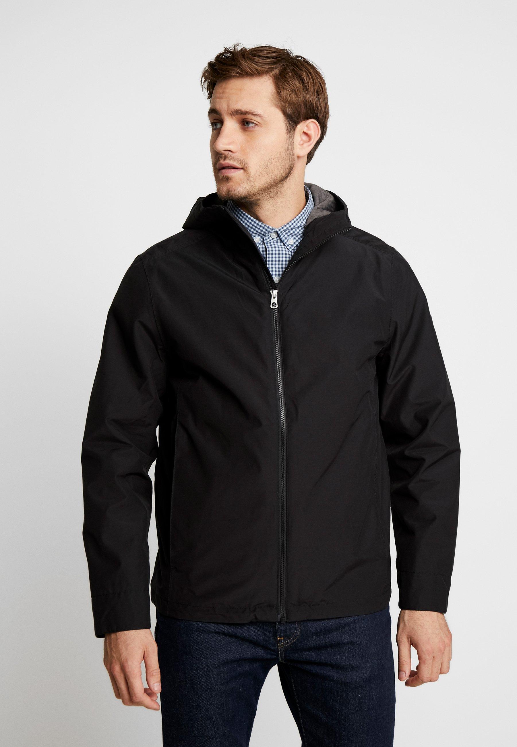 RAGGED MOUNTAIN PACKABLE Regenjacke wasserabweisende Jacke black