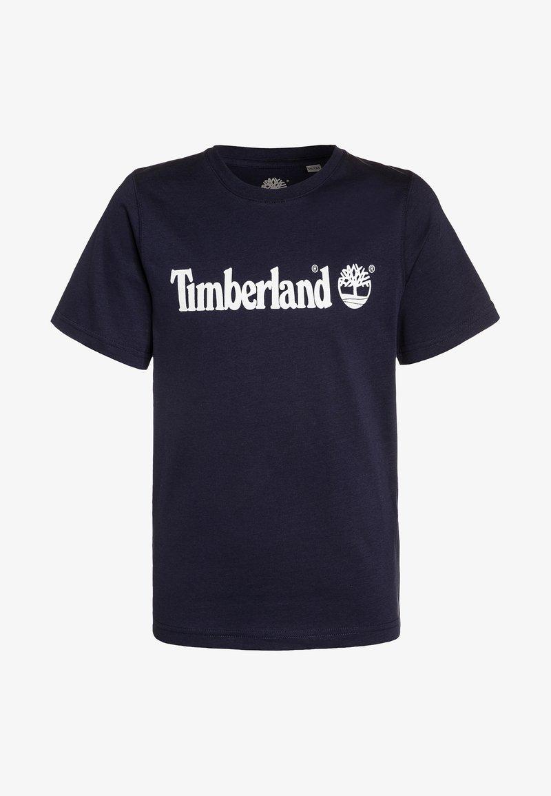 Timberland - T-shirt z nadrukiem - blue indigo