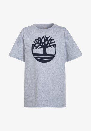 KURZARM BASIC LOGO - T-shirt imprimé - gris chine