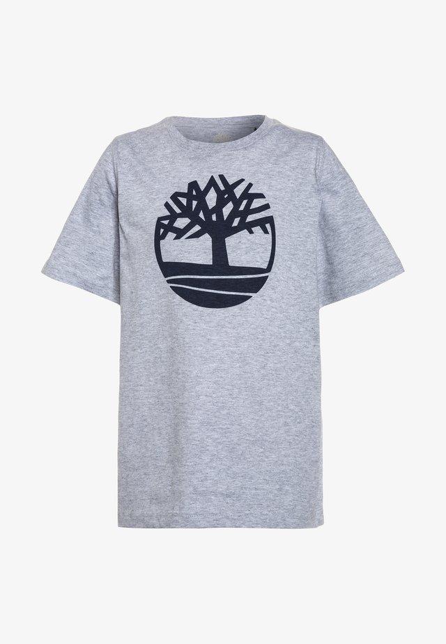 KURZARM BASIC LOGO - Print T-shirt - gris chine