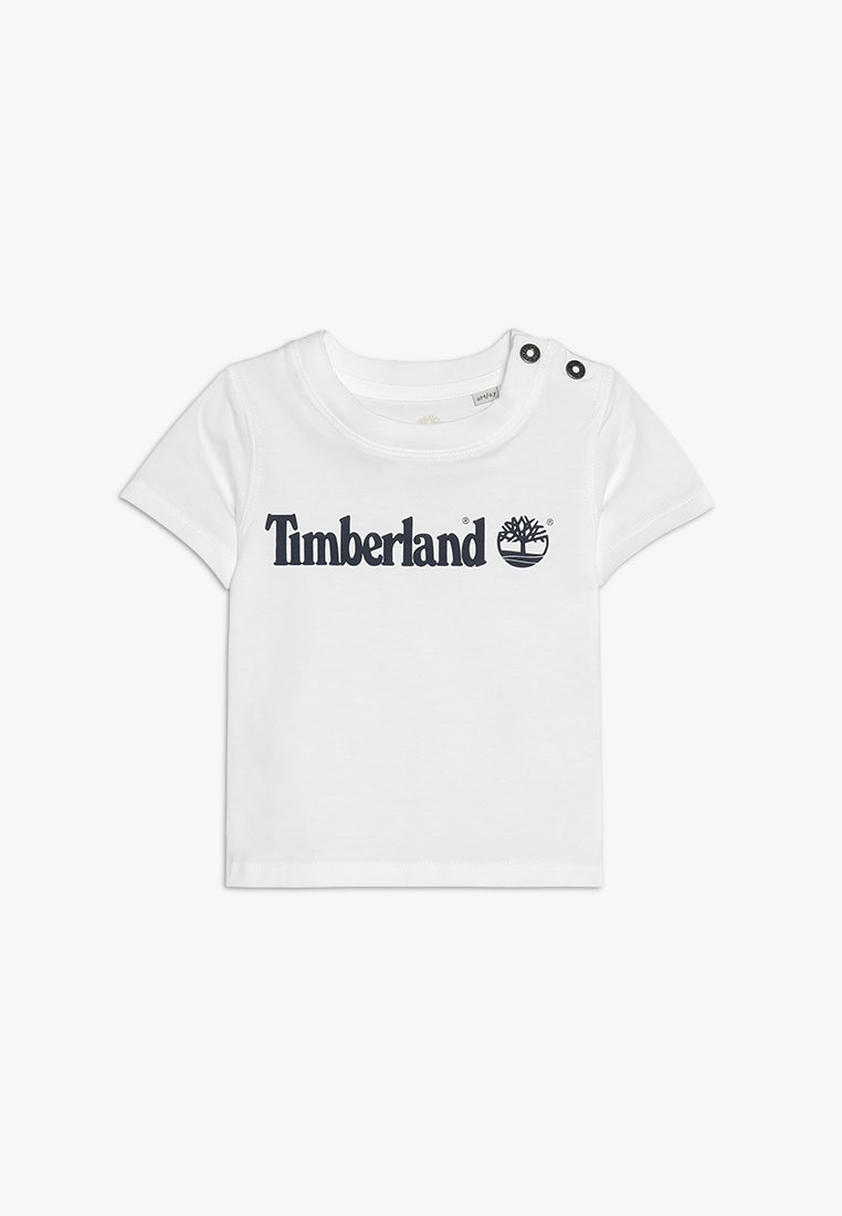 Timberland - KURZARM - Print T-shirt - weiss