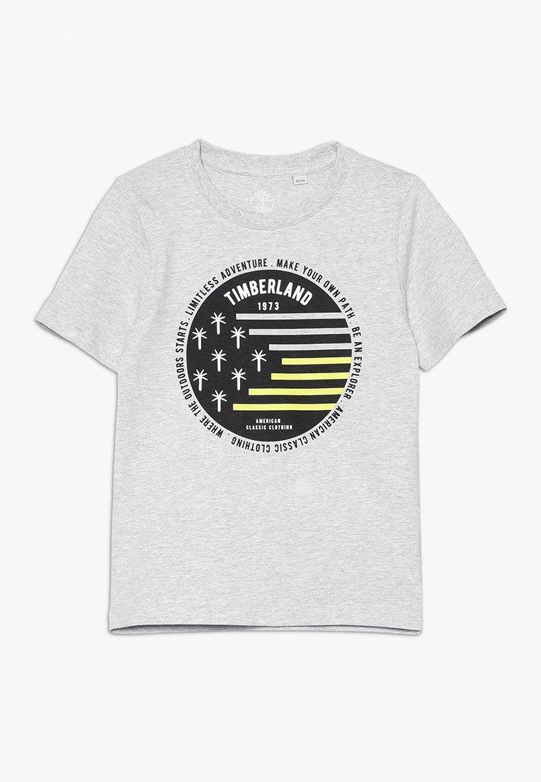Timberland - KURZARM - Print T-shirt - meliertes grau