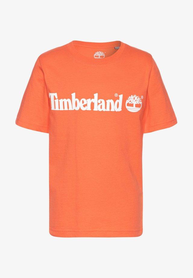 SHORT SLEEVES TEE - Camiseta estampada - apricot