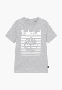 Timberland - SHORT SLEEVES - T-shirt z nadrukiem - chine grey - 0