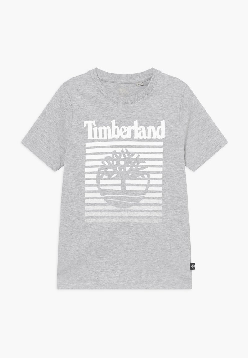 Timberland - SHORT SLEEVES - T-shirt z nadrukiem - chine grey