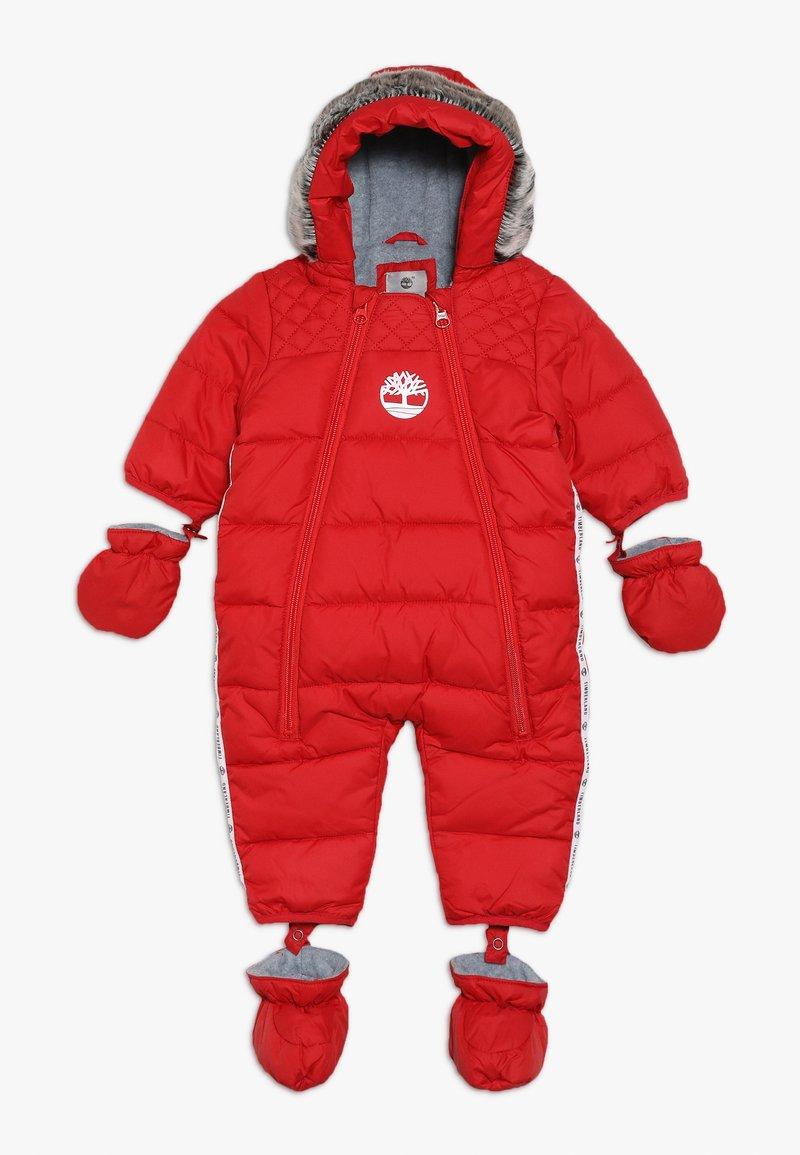 Timberland - BABY COMBINAISON PILOTE - Snowsuit - tomate
