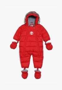 Timberland - BABY COMBINAISON PILOTE - Snowsuit - tomate - 5