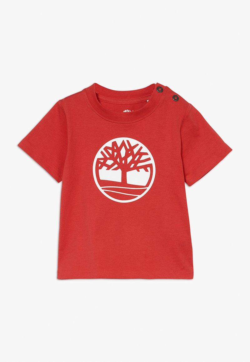 Timberland - SHORT SLEEVES TEE - Print T-shirt - red