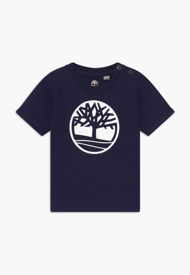 SHORT SLEEVES TEE - T-shirt z nadrukiem - navy