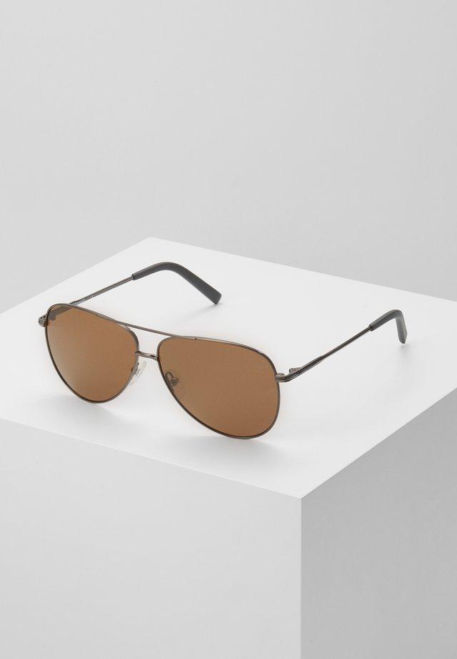 Sunglasses - shiny gunmetal/brown