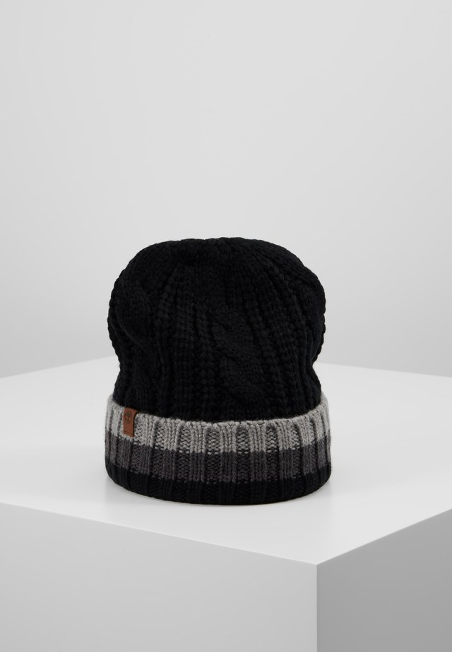 CABLE BEANIE - Mütze - black
