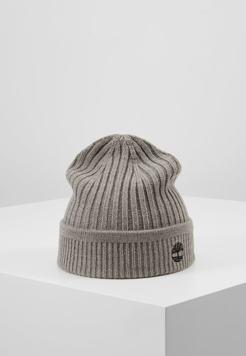 Timberland - SOLID RIB BEANIE - Mütze - light grey heather