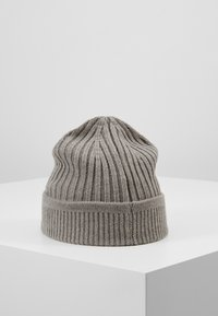 Timberland - SOLID RIB BEANIE - Mütze - light grey heather - 2