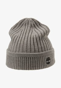 Timberland - SOLID RIB BEANIE - Mütze - light grey heather - 4
