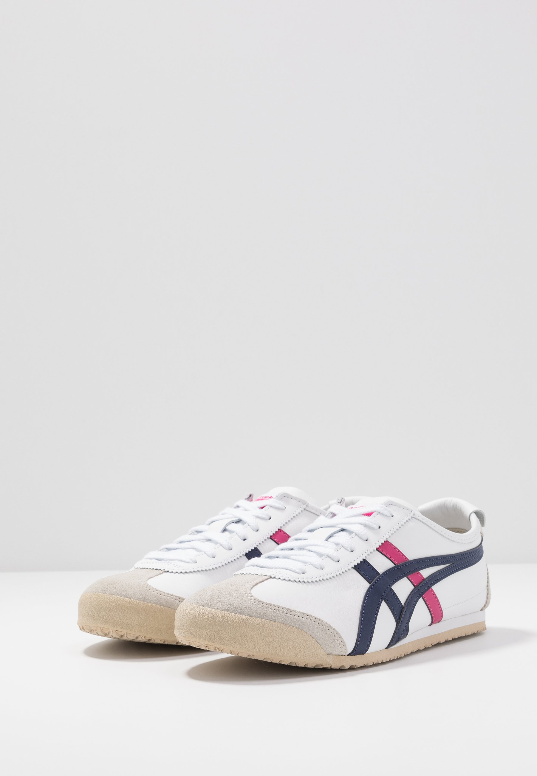 Onitsuka Tiger MEXICO 66 - Sneakersy niskie - white/navy/pink