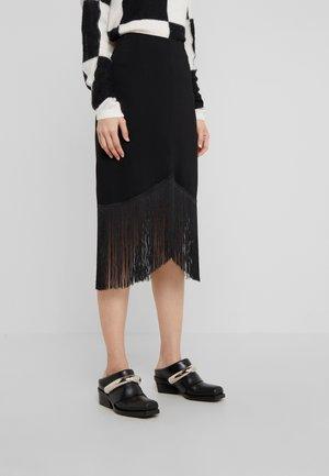 THASOS - Pencil skirt - black