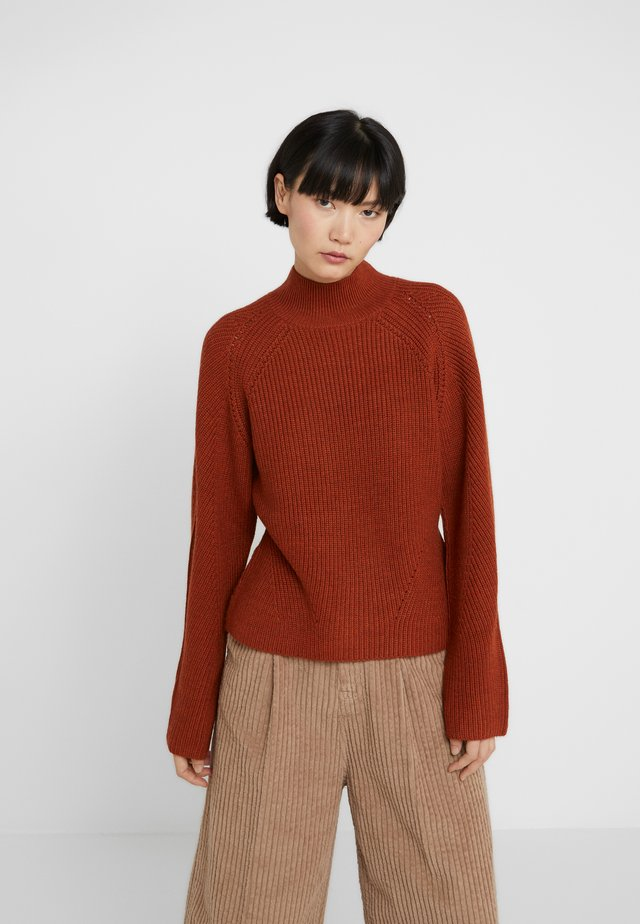 NANDRIN - Stickad tröja - rust