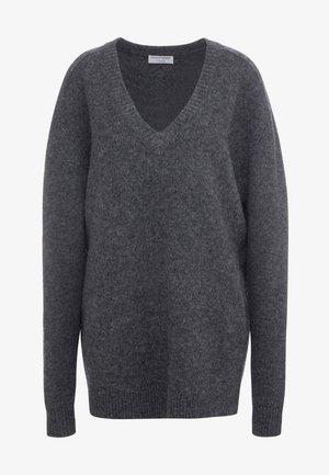 MOONFLOW - Stickad tröja - dark grey melange