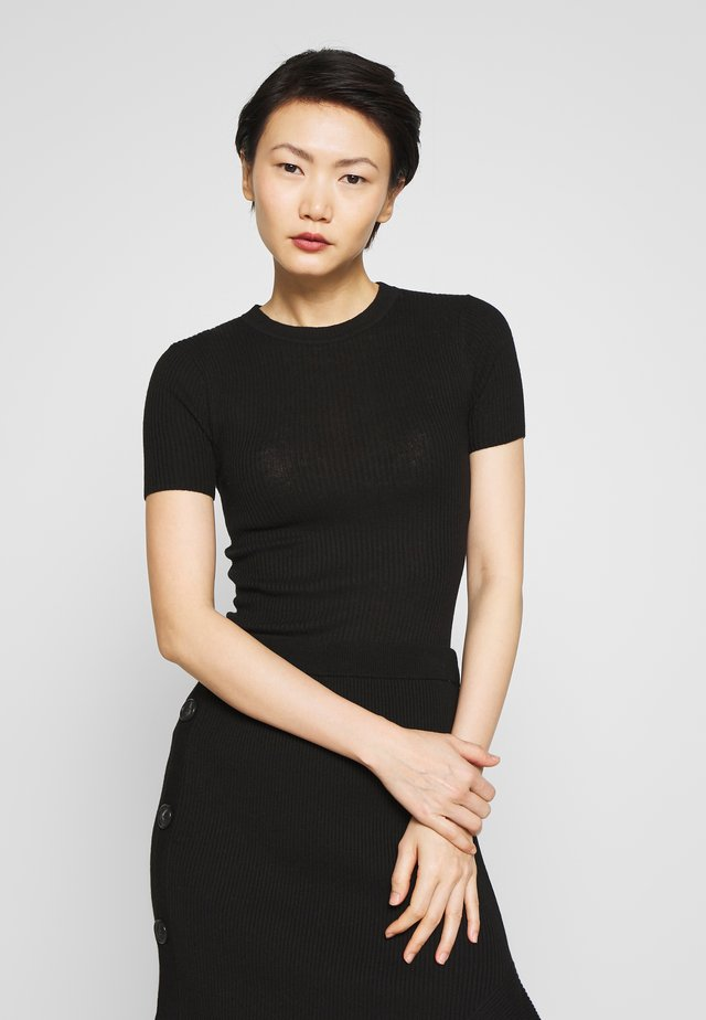 ORVI - Basic T-shirt - black