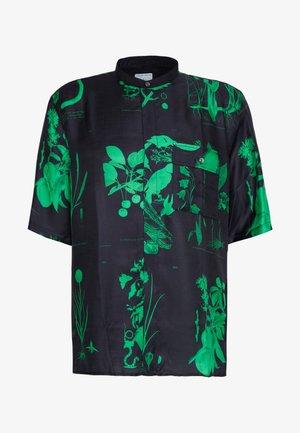 LACTEUS - Košile - floral black/green