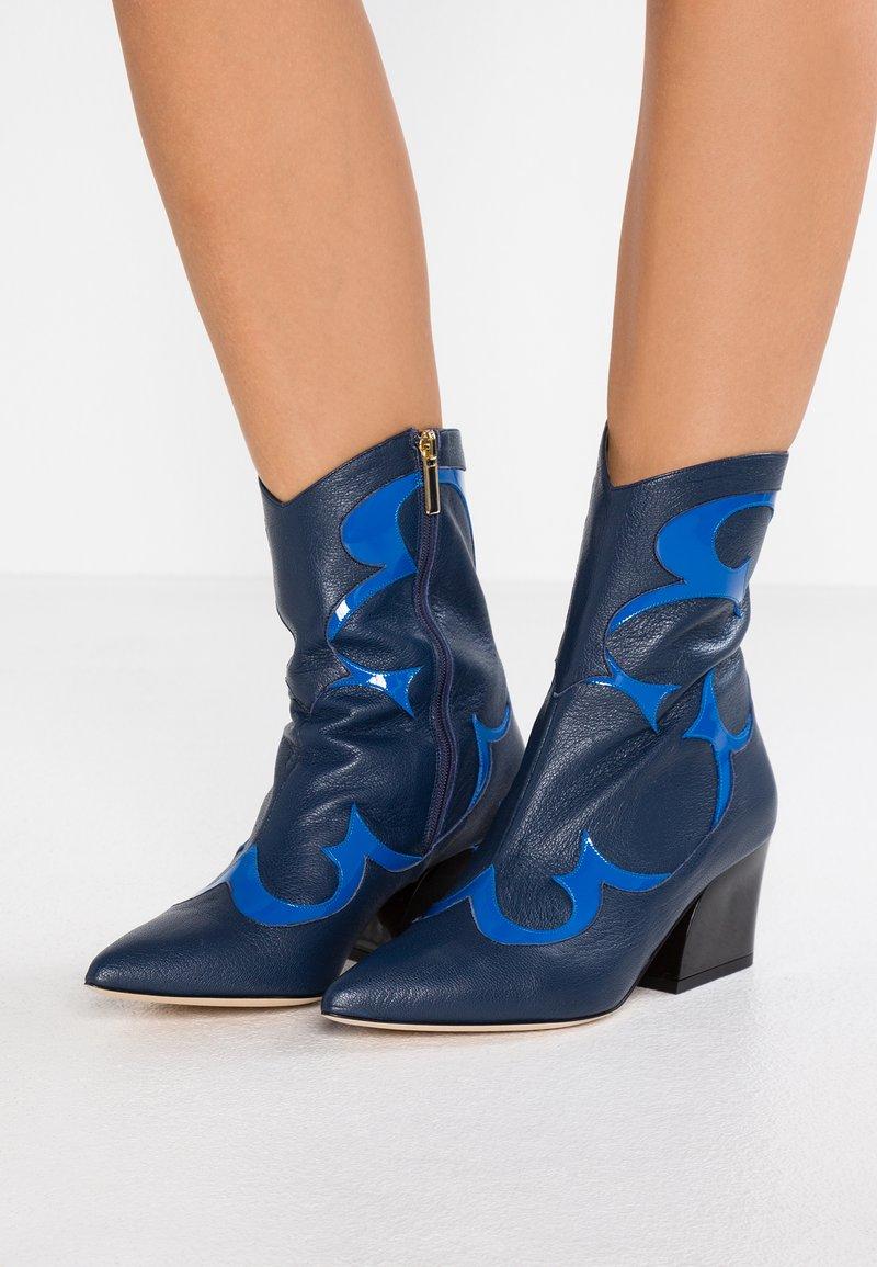 Tibi - FELIX - Støvletter - blue/multicolor